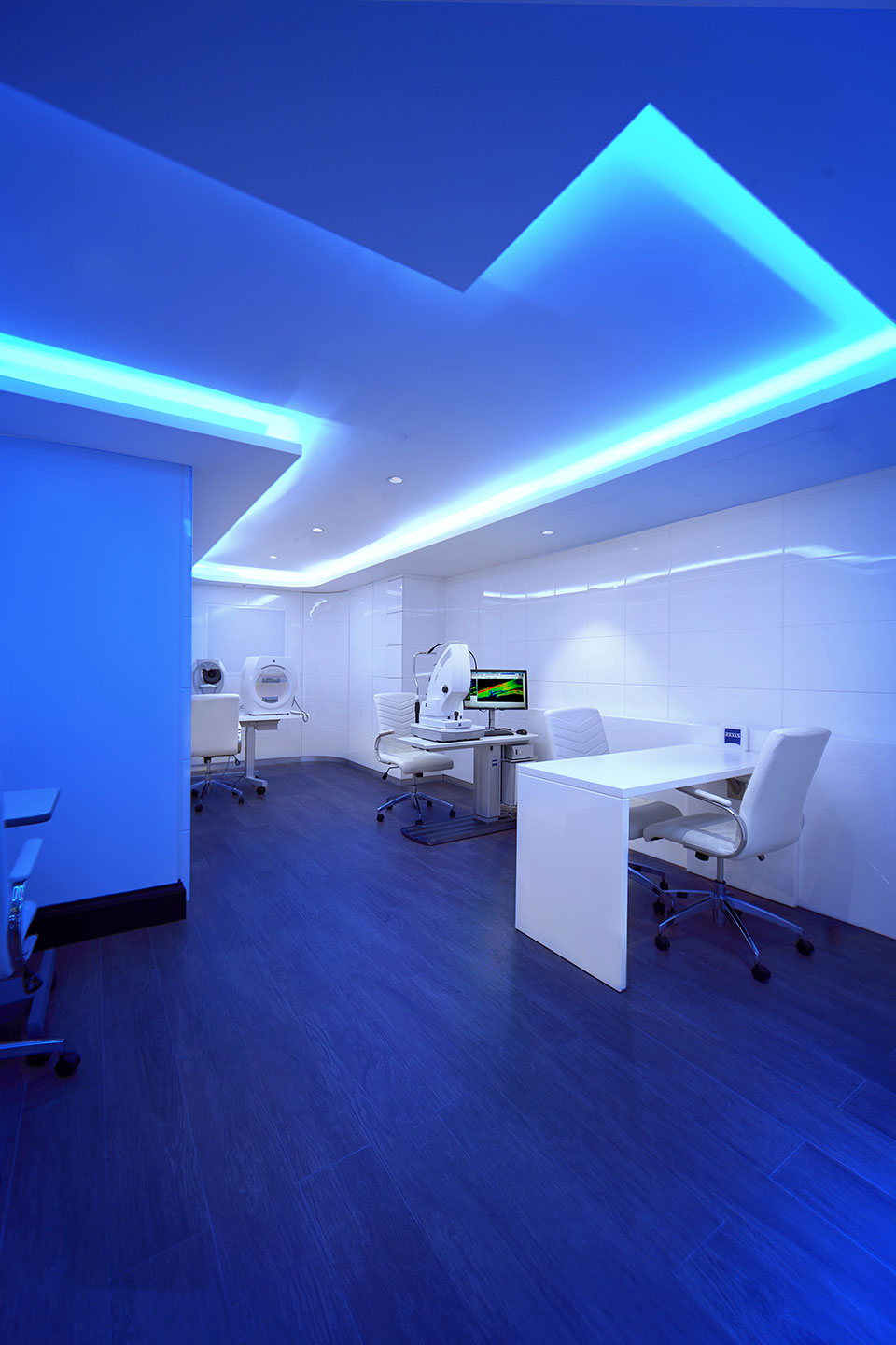 Consultation area in the Tom Davies Vision Clinic