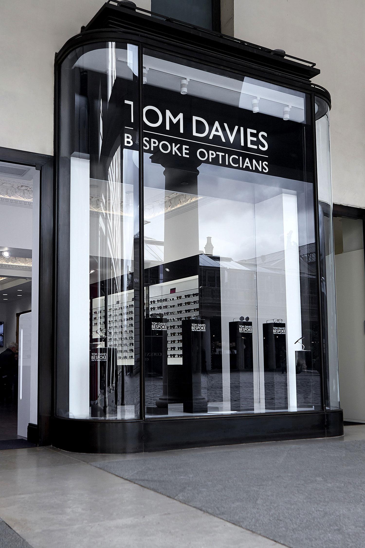 Tom Davies Bespoke Opticians store in Covent Garden